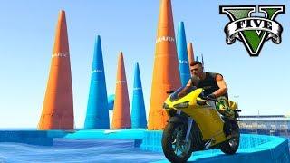 GTA V Online: SKILL TEST DE MOTO com ITENS NOVOS!!! ÉPICO