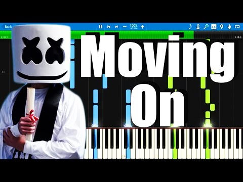Marshmello - Moving On | Synthesia Piano Tutorial