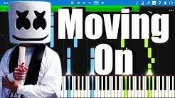 Marshmello - Moving On   Synthesia Piano Tutorial