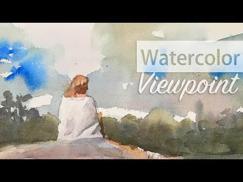 Changing viewpoint and perspective - Watercolor landscape painting