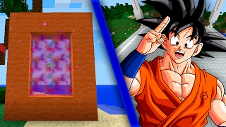 Minecraft Como hacer un portal a la dimension de DRAGON BALL | COMO HACER UN PORTAL DE GOKU