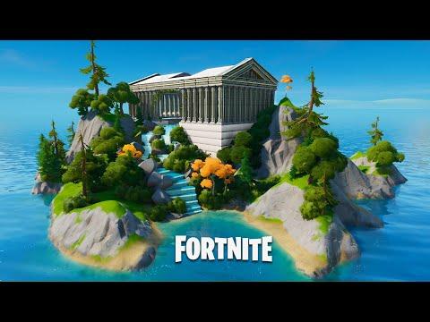 Fortnite Creative Hub Island -  The Temple Of Zeus (Speed Build)