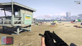 GTA 5 - Dump truck killing-spree on the beach