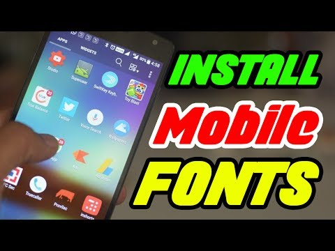 How To Install Custom Fonts On Android Mobile In Tamil - Youtube Tutorials In Tamil