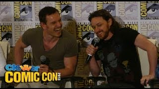 X-Men: Days Of Future Past Press Conference 2013 Comic-Con: Hugh Jackman, Michael Fassbender