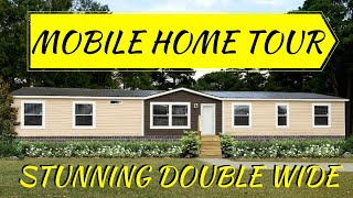 Double Wide Mobile Home | 32x68 4 bed 2 bath The Tuscan by Hamilton Homebuilders | Mobile Home Tour