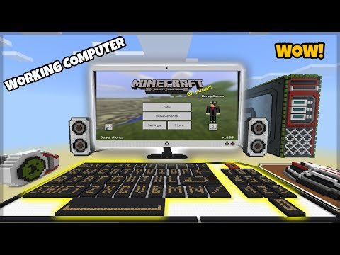 MCPE WORKING FUNCTIONAL COMPUTER (Type in,Commands,Games)