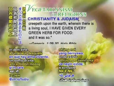 Vegetarianism in Religions (Christianity, Islam, Hinduism, Buddhism, Sikhism, Baha'i Faith)