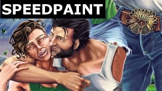 (Commission) X-men - Clementine and Logan