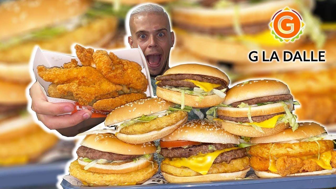 MAXI DÉGUSTATION chez G LA DALLE !! Burgers meilleurs que Mcdo, KFC, Burger King et Quick !
