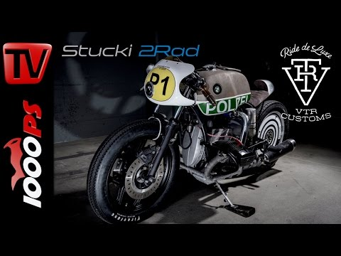 BMW R80 RT Umbau mit Lachgas-Einspritzung inkl. Soundcheck Polizia UNO by VTR Customs - Stucki