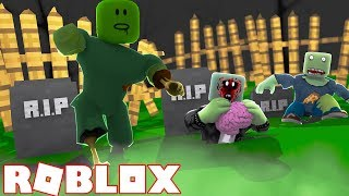 ROBLOX ESCAPE THE HAUNTED CEMETERY OBBY OR GET ATTACKED BY EVIL ZOMBIES!
