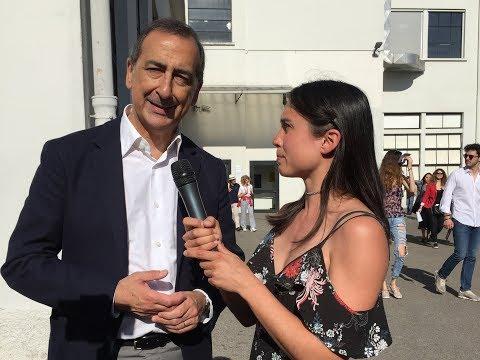 Il sindaco Beppe Sala al Materials Village per la Milano Design Week 2018