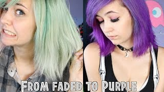From faded to bright purple / hair transformation