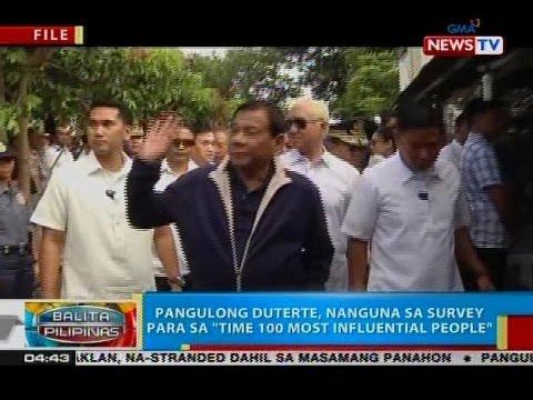 "BP: Pangulong Duterte, nanguna sa survey para sa ""Time 100 Most Influential People"""