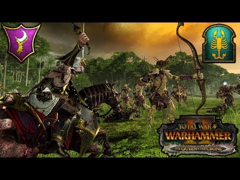 DOOMFIRE and the AMBER SPEAR - Dark Elves vs. Tomb Kings - Total War Warhammer 2 Gameplay |
