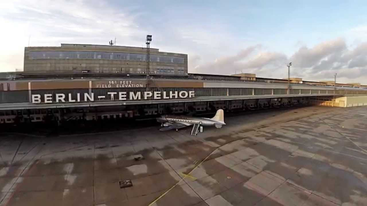 flight over berlin tempelhof airfield youtube. Black Bedroom Furniture Sets. Home Design Ideas