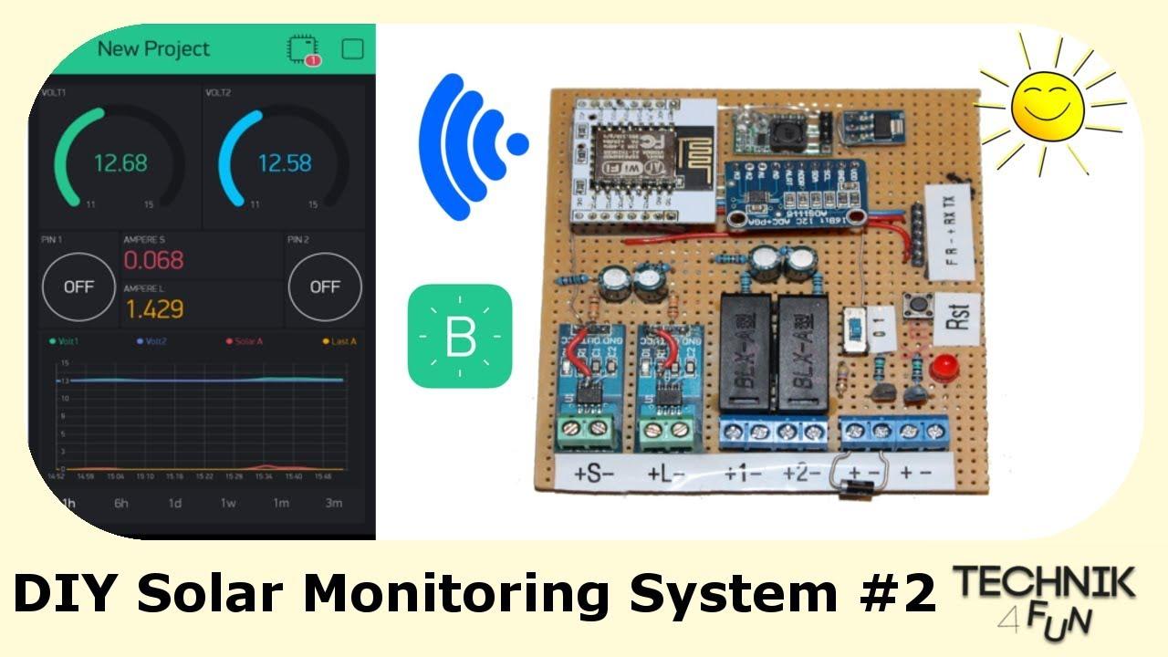 diy solar monitoring system selber bauen 2 youtube