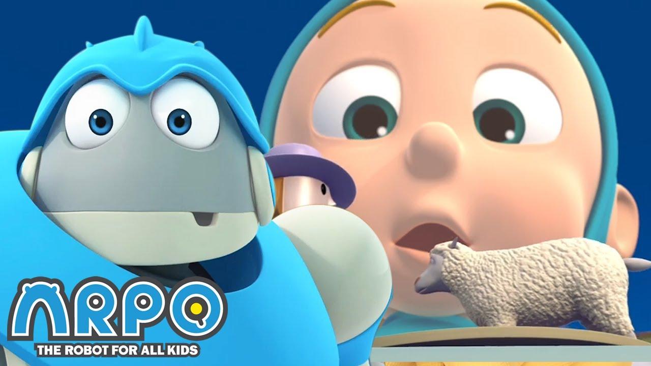 Arpo the Robot | Sneezing Baby | Cartoon Compilation | Funny Cartoons for Kids | Arpo and Daniel
