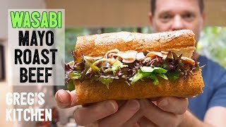 Why Does This WASABI BEEF MAYO SANDWICH Taste So Good? - Greg's Kitchen