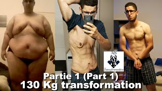 130 KG TRANSFORMATION PHYSIQUE I 286.6 POUNDS WEIGHT LOSS TRANSFORMATION (subtitles available)