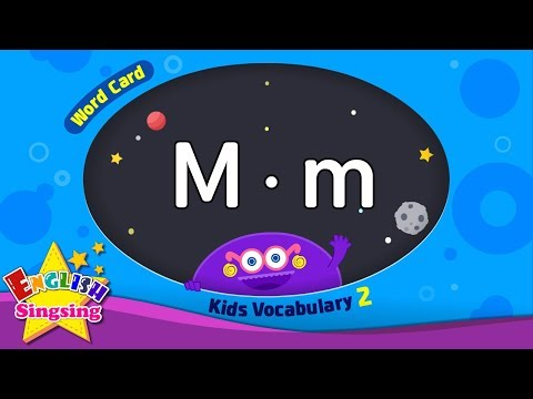 Kids vocabulary compilation ver.2 - Words Cards starting with M, m - Repeat after