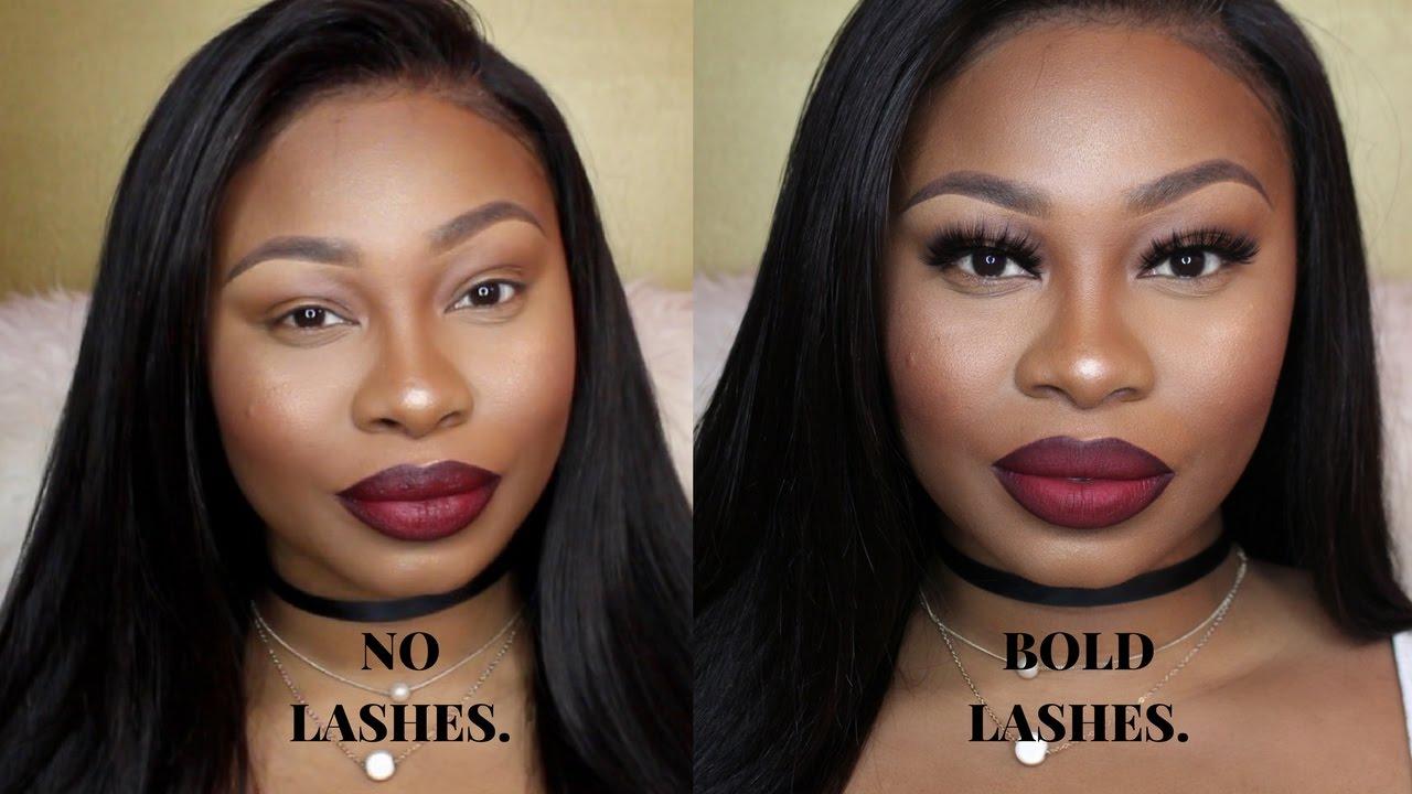 NO LASHES VS BOLD LASHES/ HOW TO APPLY FALSE LASHES!