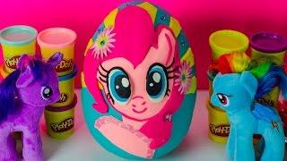 GIANT EGG SURPRISE OPENING Peppa Pig Toys My Little Pony Blind Bag Princess Kids Outdoor Park Joker