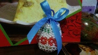 Пасхальное яйцо оплетенное бисером. Как сделать