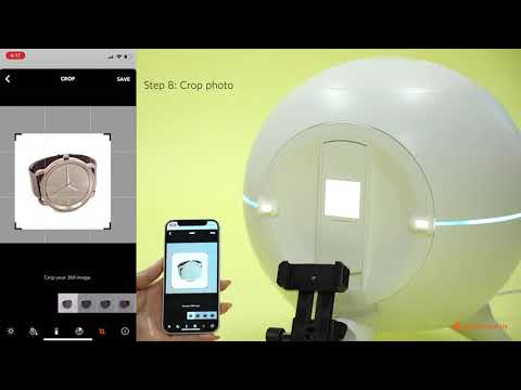 Foldio360 Smart Dome - How to Edit with App