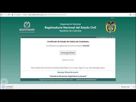 Descarga El Certificado De Vigencia De Tu Cédula Por Internet 2018