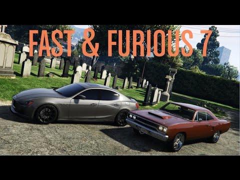 GTA 5 | Furious 7 Cemetery Chase Scene Cars | GTA V MOD