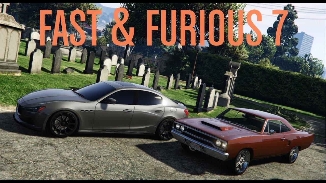 gta 5 furious 7 cemetery chase scene cars gta v mod youtube. Black Bedroom Furniture Sets. Home Design Ideas