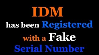 IDM has been registered with a fake serial number pop-up message fixed