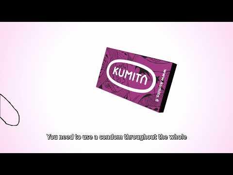 Kumita kondomin käyttöohjevideo (englanninkielinen tekstitys)