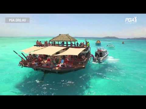 Paul Gow visits Cloud 9 an ocean bar in Fiji -  2015 Fiji International