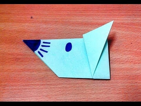 How To Make An Origami Mouse Face Step By
