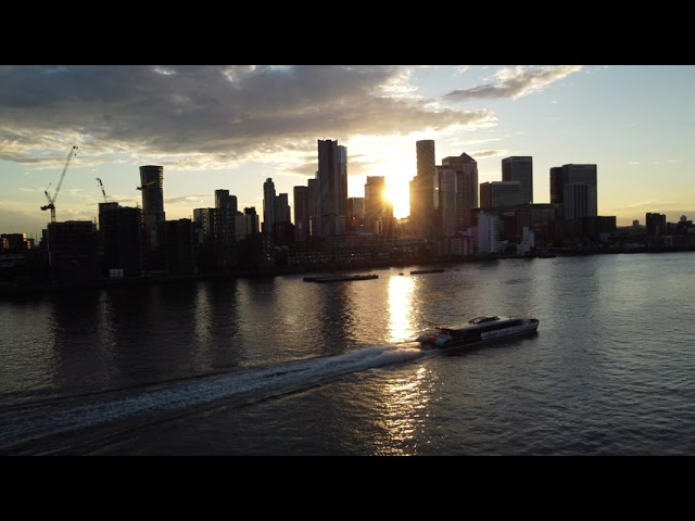 Drone footage at North Greenwich