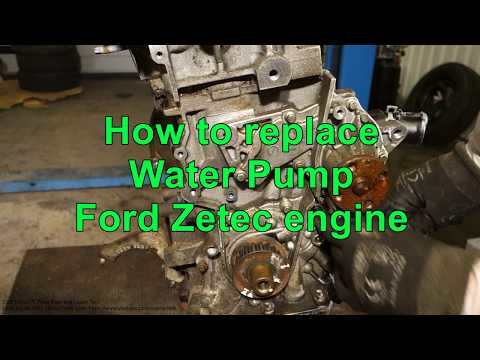 How to replace Water Pump Ford Zetec engine