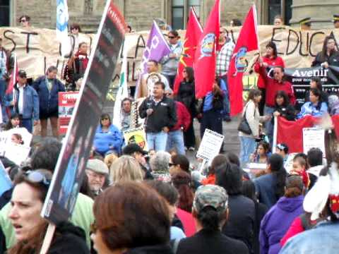 Anishinaabemowin. First Nations Education Rally, Parliament Hill.