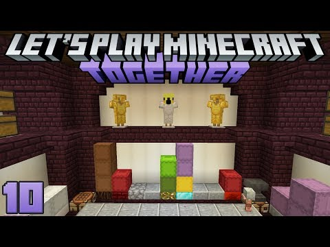 Let's Play Minecraft Together 10 Smelting & Decorating