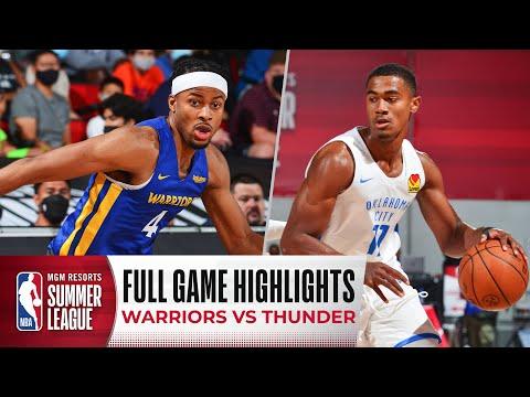 WARRIORS at THUNDER   NBA SUMMER LEAGUE   FULL GAME HIGHLIGHTS