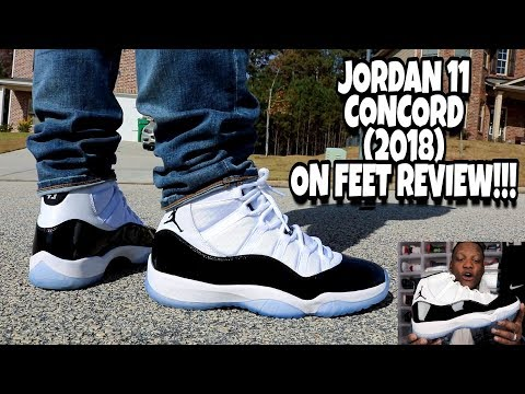 EARLY REVIEW!!! JORDAN 11 CONCORD 2018 ON FEET!!!