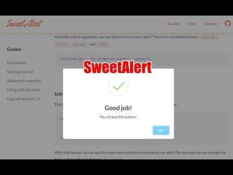 Free Code : sweetalert, sweetalert & php condition