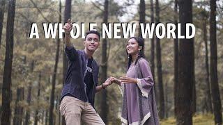 A Whole New World - Peabo Bryson, Regina Belle Cover by Sofyan Maskan & Dina Mifika (with Lyrics)