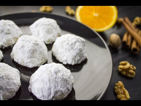 Walnut Snowball Cookies Recipe | Vegan
