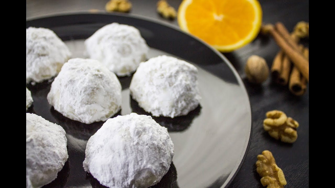 Walnut Snowball Cookies Recipe Vegan