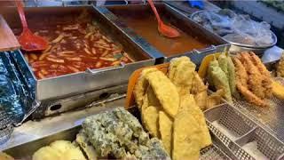 Mukbang Korean Food Tteokbokki,twigim,sundae