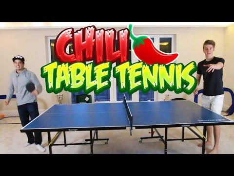 THE CHILI TABLE TENNIS CHALLENGE! w/RackaRacka