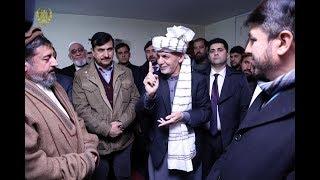 صحبت های رئیس جمهور غنی در جمع نمازگزاران مسجد جامع وزیر محمد اکبر خان